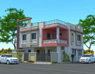 Bungalow for Babubhai Kakadia at Rajkot