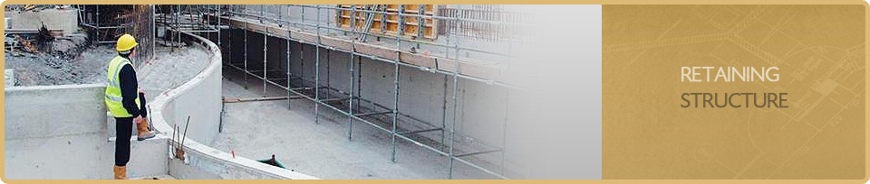 Water Retaining Structures Service : Retaining structure design details for