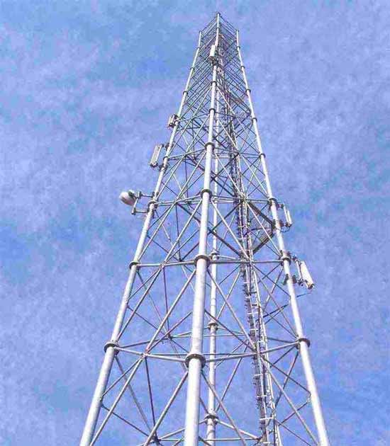 ... Top Tower, Roof Top Pole, Mono Pole, Mast Tower, Self Supporting Mast